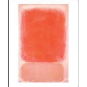 -マーク・ロスコ アートポスター-RED AND PINK ON PINK, C. 1953(281×358mm) インテリア 絵画 -おしゃれインテリアに-|poster
