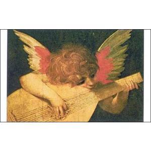 【アートポスター】 音楽を奏でる天使 70cm×100cm 天使・ルネッサンス|poster