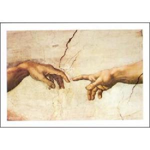 【アートポスター】 アダムの創造 70cm×100cm 天使・ルネッサンス|poster