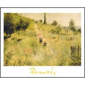 -アートポスター- 草の中を登る道 (24cm×30cm) オーギュスト・ルノアール -おしゃれインテリアに- poster
