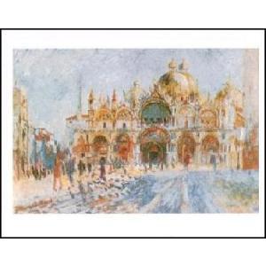 -アートポスター- ヴェネツィア、サン・マルコ広場 (40cm×50cm) オーギュスト・ルノアール -おしゃれインテリアに- poster