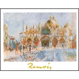 -ルノアール アートポスター-ヴェネツィア、サン・マルコ広場(24cm×30cm) -おしゃれインテリアに- poster