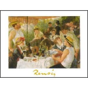 -ルノアール アートポスター-舟遊びの昼食(24cm×30cm) -おしゃれインテリアに- poster