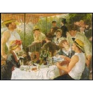 -アートポスター- 舟遊びの昼食 (70cm×100cm) オーギュスト・ルノアール -おしゃれインテリアに- poster