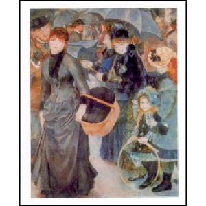-アートポスター- 雨傘 (40cm×50cm) オーギュスト・ルノアール -おしゃれインテリアに- poster