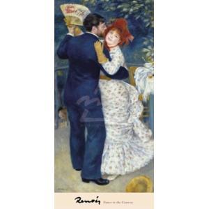 -アートポスター-田舎のダンス(457×965mm) ルノアール -おしゃれインテリアに- poster