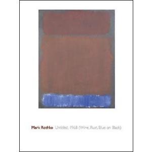 【ロスコ ポスター】Untitled,1968 (Wine,Rust,Blue) (600x800mm)|poster