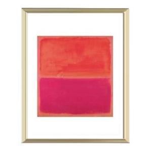 【マーク・ロスコ アルミ額装ポスター】No. 3, 1967(300×380×7.5mm)|poster