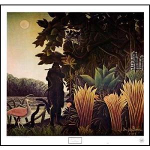 【アートポスター】蛇使いの女(571x610mm) ルソー|poster