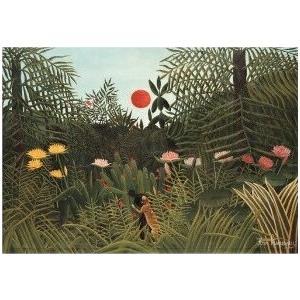 【アンリ・ルソー アートポスター】熱帯の夕日(464×660mm) -余白部分無し-|poster