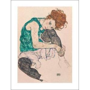 -アートポスター-芸術家の妻(60cm×80cm) エゴン・シーレ -おしゃれインテリアに-|poster