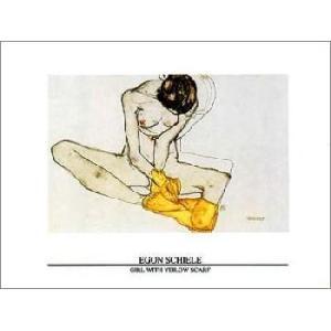 -アートポスター-黄色いスカーフと少女(60cm×80cm) エゴン・シーレ -おしゃれインテリアに-|poster