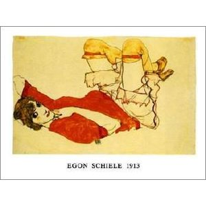 -アートポスター-赤いブラウスのヴァリー1913年(50cm×70cm) エゴン・シーレ -おしゃれインテリアに-|poster