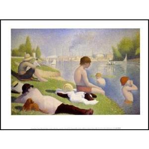 【スーラ】アニエールの水浴(560x710mm) アートポスター|poster