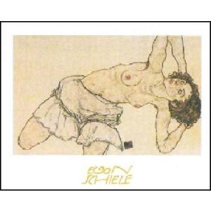 -アートポスター- Knielende Halfnaakte (50cm×70cm) エゴン・シーレ -おしゃれインテリアに-|poster