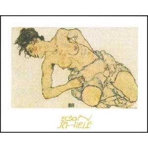 【アートポスター】 Knielende Halfnaakte (50cm×70cm) エゴン・シーレ|poster