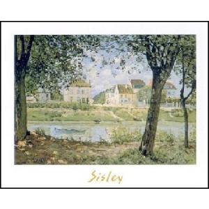 【アートポスター】 セーヌ川畔の村 (50cm×70cm) アルフレッド・シスレー|poster