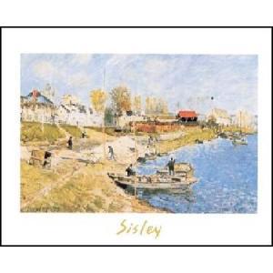 【アートポスター】 ポート・マーリーの船着場 (50cm×70cm) アルフレッド・シスレー|poster