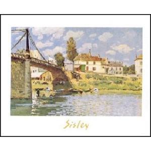 【アートポスター】 ガレンの町に架かる橋 (50cm×70cm) アルフレッド・シスレー|poster