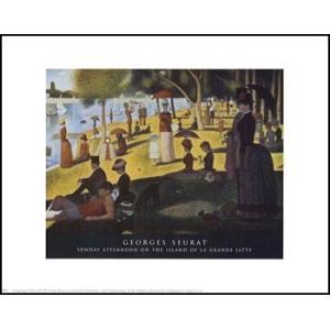 【スーラ】グランド・ジャット島の日曜日の午後(400x500mm) アートポスター|poster