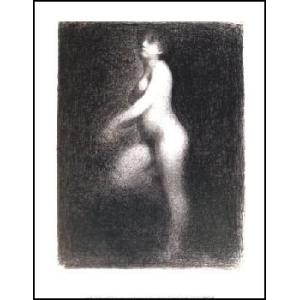【スーラ ポスター】裸婦1881-2年(281x358mm)|poster