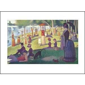 【スーラ ポスター】グランド・ジャット島の日曜日の午後(281x358mm)|poster