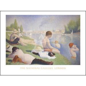 【スーラ ポスター】アニエールの水浴(600×800mm)|poster
