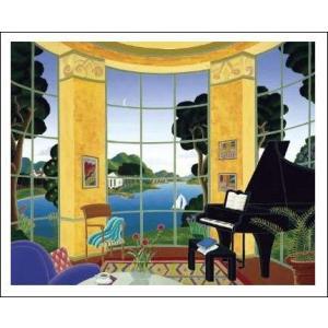 -マックナイト アートポスター-黄色の音楽室(610×762mm) -おしゃれインテリアに- poster