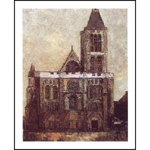 -ユトリロ-サンドニ大寺院(560x710mm) アートポスター -おしゃれインテリアに- poster