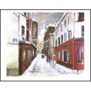 -ユトリロ-冬のサクレ・クール(560x710mm) アートポスター -おしゃれインテリアに- poster