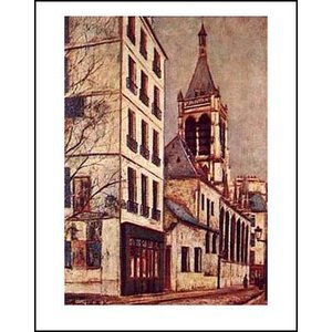 -ユトリロ-サン=セヴラン教会(560x710mm) アートポスター -おしゃれインテリアに- poster