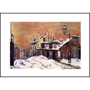 -ユトリロ-冬の景色(560x710mm) アートポスター -おしゃれインテリアに- poster