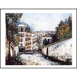 -ユトリロ-モンマルトルの通り(560x710mm) アートポスター -おしゃれインテリアに- poster