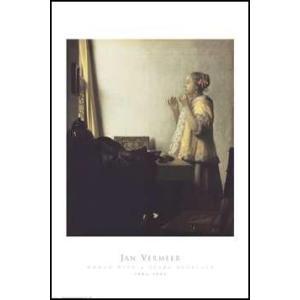 【アートポスター】 真珠の首飾りの女  610×915mm フェルメール|poster