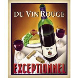 ポスター Du Vin Rouge Exceptionnel 610×760mm フォーニー|poster