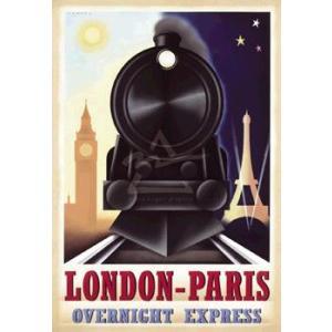ポスター London-Paris Overnight Express 560×810mm フォーニー|poster