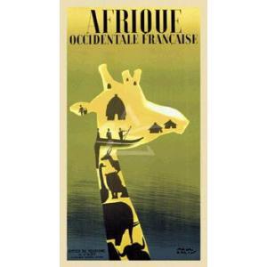 ポスター Afrique Occidentale Francaise ca. 1948 (254×457mm) 動物 ビンテージ|poster