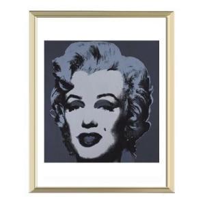 -アンディ・ウォーホル アルミ額装ポスター-マリリン1967年(ブラック)(300×380×7.5mm) -おしゃれインテリアに- poster