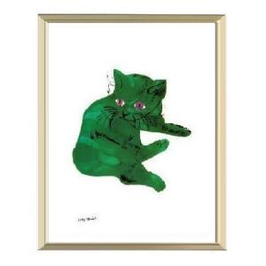 【アンディ・ウォーホル アルミ額装ポスター】緑の猫1956年(300×380×7.5mm)|poster