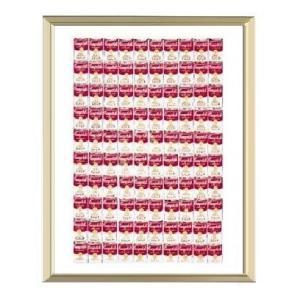 【アンディ・ウォーホル アルミ額装ポスター】100個の缶1962年(300×380×7.5mm)|poster