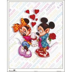 -ディズニー アートポスター-ミッキーとミニー - ラブ(406mm×508mm) -おしゃれインテリアに- poster