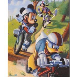 -ディズニー アートポスター-マウンテンバイク(406mm×508mm) -おしゃれインテリアに- poster