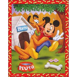 -ディズニー アートポスター-ミッキーとプルート(406mm×508mm) -おしゃれインテリアに- poster