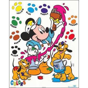 -ディズニー アートポスター-ミッキーマウスの色塗り(406mm×508mm) -おしゃれインテリアに- poster