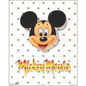 - ディズニー アートポスター-ミッキーマウス(560×710mm) -おしゃれインテリアに- poster