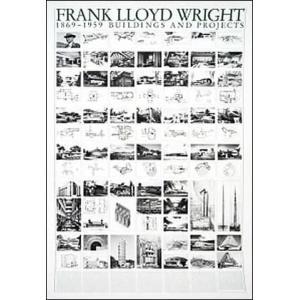 【フランク・ロイド・ライト】建築と計画(70cm×100cm) アートポスター |poster