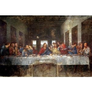 レオナルド・ダ・ヴィンチ 最後の晩餐 ポスター/アートフレーム付 ディテールカット