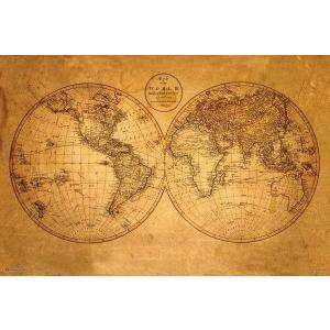 旧世界地図 ポスター/フレーム付