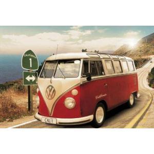 【送料¥290〜】 フォルクスワーゲン・カリフォルニアキャンパー  VW Californian Camper /route one ポスター(101208)|posterbin2