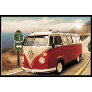 フォルクスワーゲン・カリフォルニアキャンパー  VW Californian Camper /route one ポスター フレームセット(101208)|posterbin2